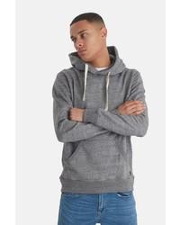grauer Pullover mit einem Kapuze von BLEND