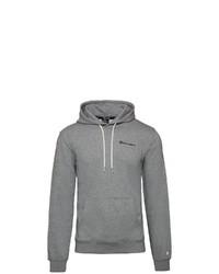 grauer Pullover mit einem Kapuze von Champion