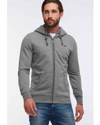 grauer Pullover mit einem Kapuze von Dreimaster