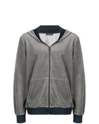 grauer Pullover mit einem Kapuze von Emporio Armani