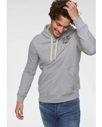 grauer Pullover mit einem Kapuze von G-Star RAW