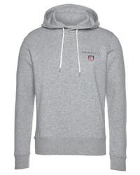 grauer Pullover mit einem Kapuze von Gant