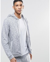 grauer Pullover mit einem Kapuze von Hugo Boss