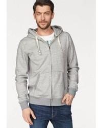 grauer Pullover mit einem Kapuze von Jack & Jones