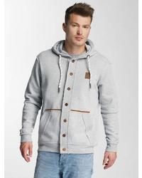grauer Pullover mit einem Kapuze von Just Rhyse