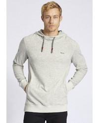 grauer Pullover mit einem Kapuze von khujo