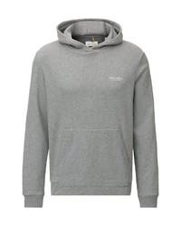 grauer Pullover mit einem Kapuze von Marc O'Polo