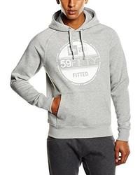 grauer Pullover mit einem Kapuze von New Era