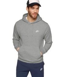 grauer Pullover mit einem Kapuze von Nike Sportswear