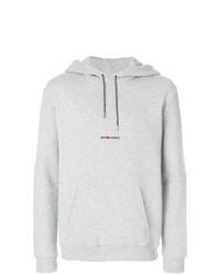 grauer Pullover mit einem Kapuze von Saint Laurent