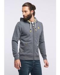 grauer Pullover mit einem Kapuze von Schmuddelwedda