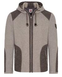 grauer Pullover mit einem Kapuze von SPIETH & WENSKY