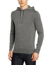 grauer Pullover mit einem Kapuze von Tommy Hilfiger