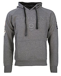 grauer Pullover mit einem Kapuze von TOP GUN