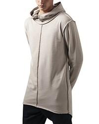 grauer Pullover mit einem Kapuze von Urban Classics