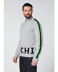 grauer Pullover mit einem Reißverschluss am Kragen von Chiemsee