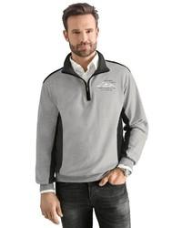 grauer Pullover mit einem Reißverschluss am Kragen von Classic