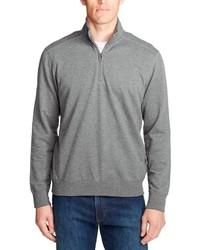 grauer Pullover mit einem Reißverschluss am Kragen von Eddie Bauer