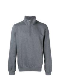 grauer Pullover mit einem Reißverschluss am Kragen von Paul & Shark