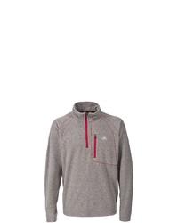 grauer Pullover mit einem Reißverschluss am Kragen von Trespass