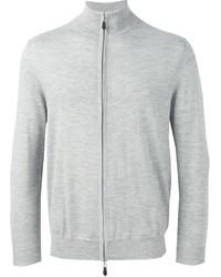 grauer Pullover mit einem Reißverschluß