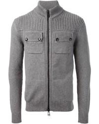 grauer Pullover mit einem Reißverschluß von Belstaff