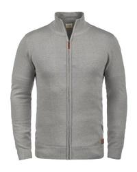 grauer Pullover mit einem Reißverschluß von BLEND