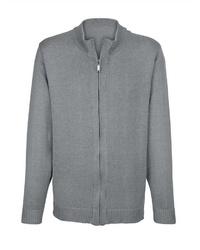grauer Pullover mit einem Reißverschluß von Boston Park