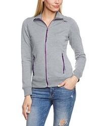 grauer Pullover mit einem Reißverschluß von CMP