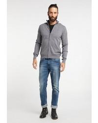 grauer Pullover mit einem Reißverschluß von Dreimaster