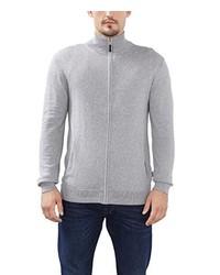 grauer Pullover mit einem Reißverschluß von Esprit