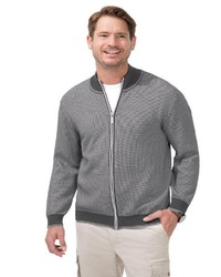 grauer Pullover mit einem Reißverschluß von MARCO DONATI