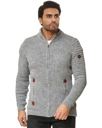 grauer Pullover mit einem Reißverschluß von Redbridge