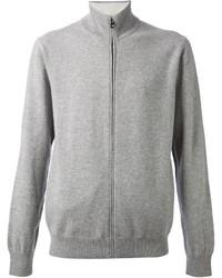 grauer Pullover mit einem Reißverschluß von Salvatore Ferragamo
