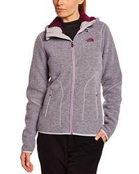 grauer Pullover mit einem Reißverschluß von The North Face