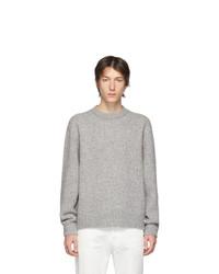 grauer Pullover mit einem Rundhalsausschnitt von Acne Studios