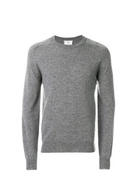 grauer Pullover mit einem Rundhalsausschnitt von AMI Alexandre Mattiussi