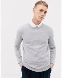grauer Pullover mit einem Rundhalsausschnitt von ASOS DESIGN