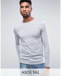 grauer Pullover mit einem Rundhalsausschnitt von Asos