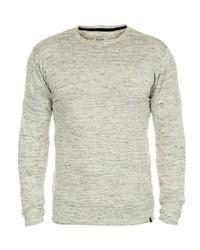 grauer Pullover mit einem Rundhalsausschnitt von BLEND