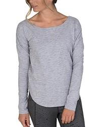 grauer Pullover mit einem Rundhalsausschnitt von Burton