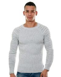 grauer Pullover mit einem Rundhalsausschnitt von CE&CE