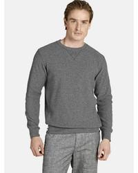 grauer Pullover mit einem Rundhalsausschnitt von Charles Colby