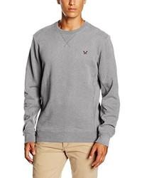 grauer Pullover mit einem Rundhalsausschnitt von Crew Clothing