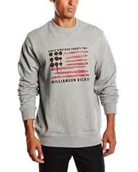 grauer Pullover mit einem Rundhalsausschnitt von Dickies