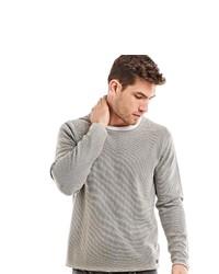 grauer Pullover mit einem Rundhalsausschnitt von EMILIO ADANI