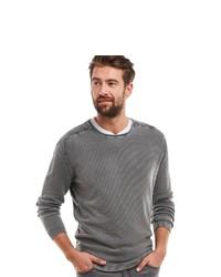 grauer Pullover mit einem Rundhalsausschnitt von ENGBERS