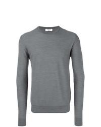 grauer Pullover mit einem Rundhalsausschnitt von Fashion Clinic Timeless
