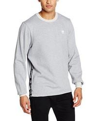 grauer Pullover mit einem Rundhalsausschnitt von G-Star RAW