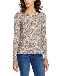 grauer Pullover mit einem Rundhalsausschnitt von GANT